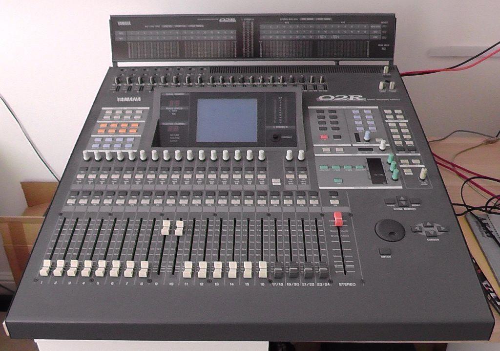 yamaha 02r. yamaha 02r digital recording console with peak meter bridge mb02 02r