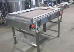 Tables d'accumulation en acier inoxydable COMME NEUVE (33'' X 55'' et 32'' X 48'') *AEVOS*