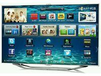 "Samsung 55"" LED smart 3D BUILT IN CAMERA Ultra slim tv builtin USB media player HD freeview fullhd"