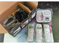 BT triple pack cordless digital Phone set with answering machine