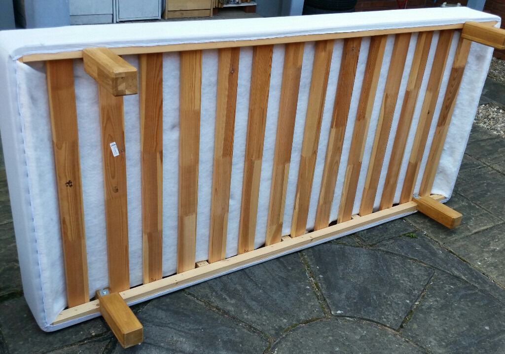 ikea Sultan Alby single bed. wooden frame with slats + sprung top. 200 x 90cm. In excelent condition