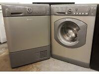 Graphite Hotpoint 8KG Washing Machine & Tumble Dryer – 6 Months Warranty