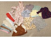 Baby Clothes Bundle 9-12m and a few larger items. Joules, Marks, TU, Next and more.