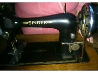1900 cast iron singer trundle sewing machine