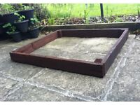 MINI RAISED PLANTING BED FRAME PAINTED RONSEAL DARK OAK £ 12 ovno
