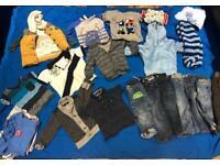 Boys age 1-2 mixed designer clothing bundle