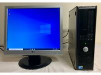 Dell 380 Optiplex Computer Desktop Pc With LG 19 LCD Screen