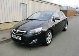 2012 VAUXHALL ASTRA SRI 1.6 16V PETROL BLACK SALVAGE DAMAGE SPARES OR REPAIR Not vxr