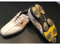 Gents Leather Golf Shoes Size 9