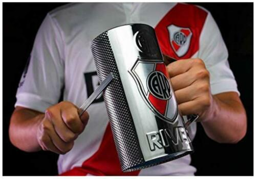 RIVER PLATE Fernet / Beer Glass Guiro Cup With Holder & Scraper - FOOTBALL MUG