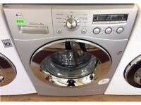 LG, Silver & Chrome 8KG Direct Drive, 1200 Digital WASHER + 3 Months Guarantee + FREE LOCAL DELIVERY