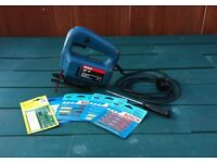 BOSCH PST 50 JIGSAW ( VGC & GWO ) with a selection of spare blades