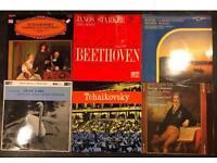 6 x vintage classical music vinyl LP's