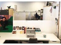 HACKNEY DOWNS STUDIOS || DESK SPACE IN CREATIVE SHARED STUDIO