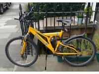 Dual suspension bicycle
