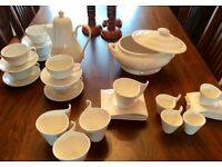 WHITE WARE COFFEE CUPS AND SAUCERS AND MORE ….