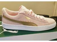 Ladies Pink Suede Puma trainers size 5.5
