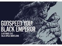 GODSPEED YOU BLACK EMPEROR - CIRCLE BOOTH 6 ROW B - THE TROXY - TUES 31/10!