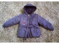 Girls size 18-24 months purple coat