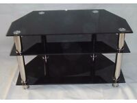 Glass tv stand/table - hardly used, very good condition!!! £30