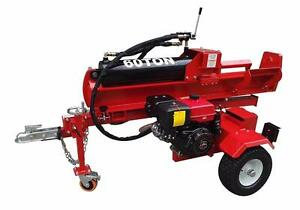 NEW 60 TON LOG SPLITTER TRAILER HYDRAULIC ELECTRIC START 15 HP EPA ELECTRIC START