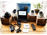 BITCOIN ACCEPTED iC1900MDVR 4 CHANNEL SECURITY CCTV DVR 7 inch LCD + 4 CAMERAS + 500GB HARD DRIVE.