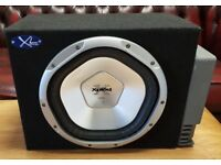 CAR SUBWOOFER SONY XPLOD 1200 WATT 12 INCH BASS BOX WITH BUILD IN AMPLIFIER SUB WOOFER AMP