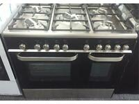 ** CHRISTMAS SALE** New Graded KENWOOD 90cm Dual Fuel Range Cooker - Black