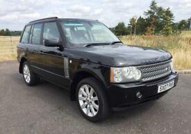 2007 Range Rover 4.2 SUPERCHARGED V8 BLACK WITH BLACK LEATHER 97K , STUNNING BIG LUXURY 4x4, MOT OCT