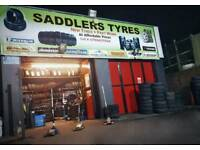 Saddlers Tyres -Brand New & Part Worn Tyres from £20 - 205/55/16 295/65/15 225/45/17 225-40-18