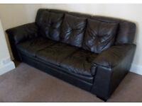 DFS Leather Sofa.