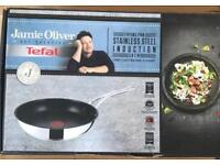 Brand new Jamie Oliver large stainless steel frying pan