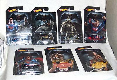 Hot Wheels 2016 BATMAN VS SUPERMAN DAWN OF JUSTICE Full Set of 7