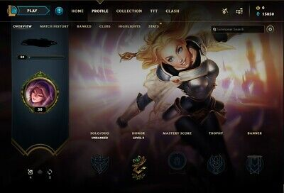 League of Legends Unverified Account NA - Level 30+ - Unranked - 19Capsules