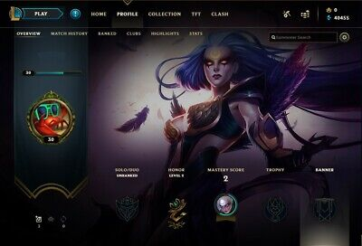league of legends NA account handlevelled over 40K BE