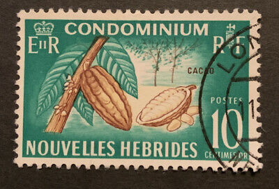1963 New Hebrides French 10c Brown Buff Green FU Stamp F111