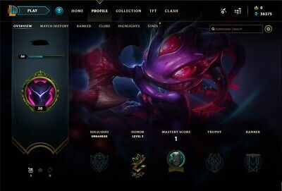 League of Legends Unranked Unverified Account NA! 1 Epic Skin ll HANDLEVEL