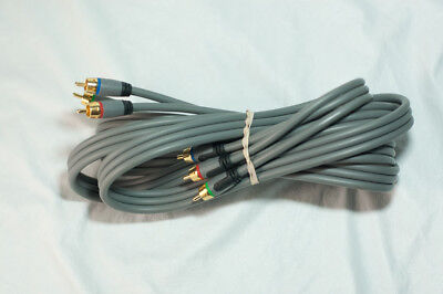 6 Foot gold plated component video cable DVD HDTV