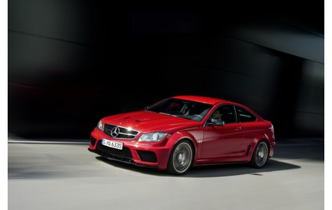 Ganz in rot: C 63 AMG Coupé Black Series