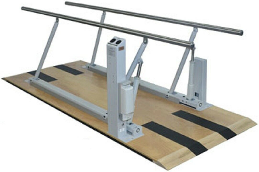 NEW Hausmann 1357 Electric Parallel Bars 10' Platform Stainless Steel Rails