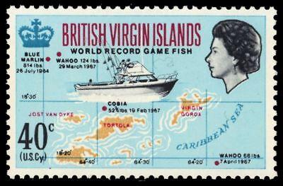 "VIRGIN ISLANDS 189 (SG223) - Game Fishing ""Fishing Boat and Map"" (pa64839)"