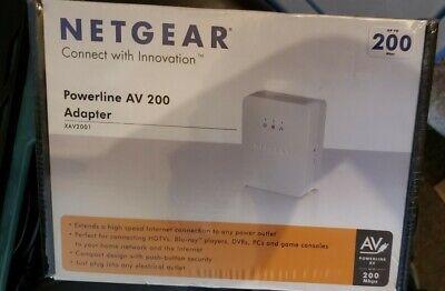 NETGEAR POWERLINE AV ETHERNET ADAPTER UP to 200 Mbps - USES HOME WIRING!  Powerline Av Ethernet Adaptor