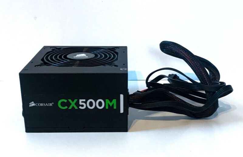 Corsair Power Supply CX500M 75-002017 500W Used. Tested And Works.