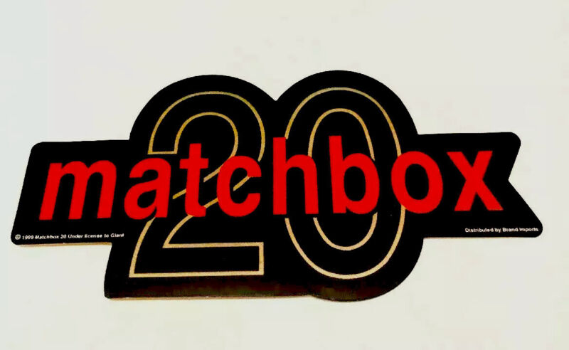 MATCHBOX 20 TWENTY vintage STICKER Rob Thomas 1999 Giant Music 90's
