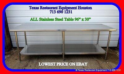 New All Stainless Steel Work Prep Table 96 X 30 Nsf Houston Texas