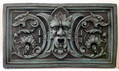 25kg schweres Bronze Relief grün patiniert aus antiker Form abgegossen