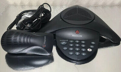 Polycom Soundstation2 2201-15100-601 Conference Phone W Wall Power Module