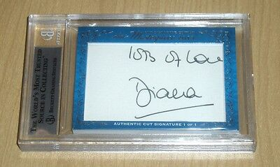 2013 Leaf MASTERPIECE CUT Signature autograph Princess DIANA/Prince CHARLES 1/1