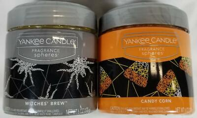Yankee Candle WITCHES BREW CANDY CORN Fragrance Spheres Scent Beads Halloween x2