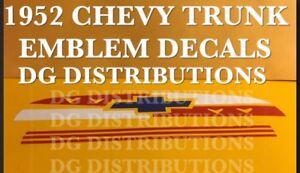 1952 Chevy bel air fleetline 210 sedan delivery conver Trunk Emblem Emblem Decal